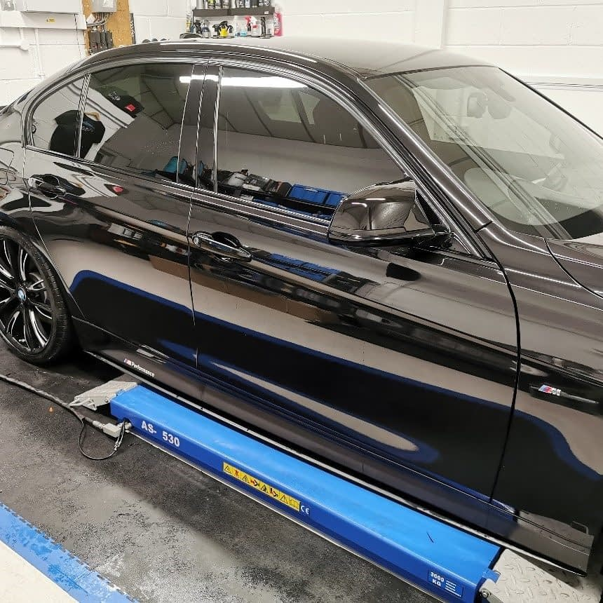 black bmw window tint after in Reading